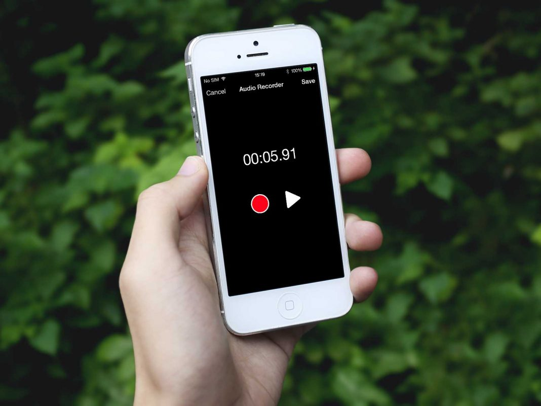 a simple audio recorder controller in swift for iphone