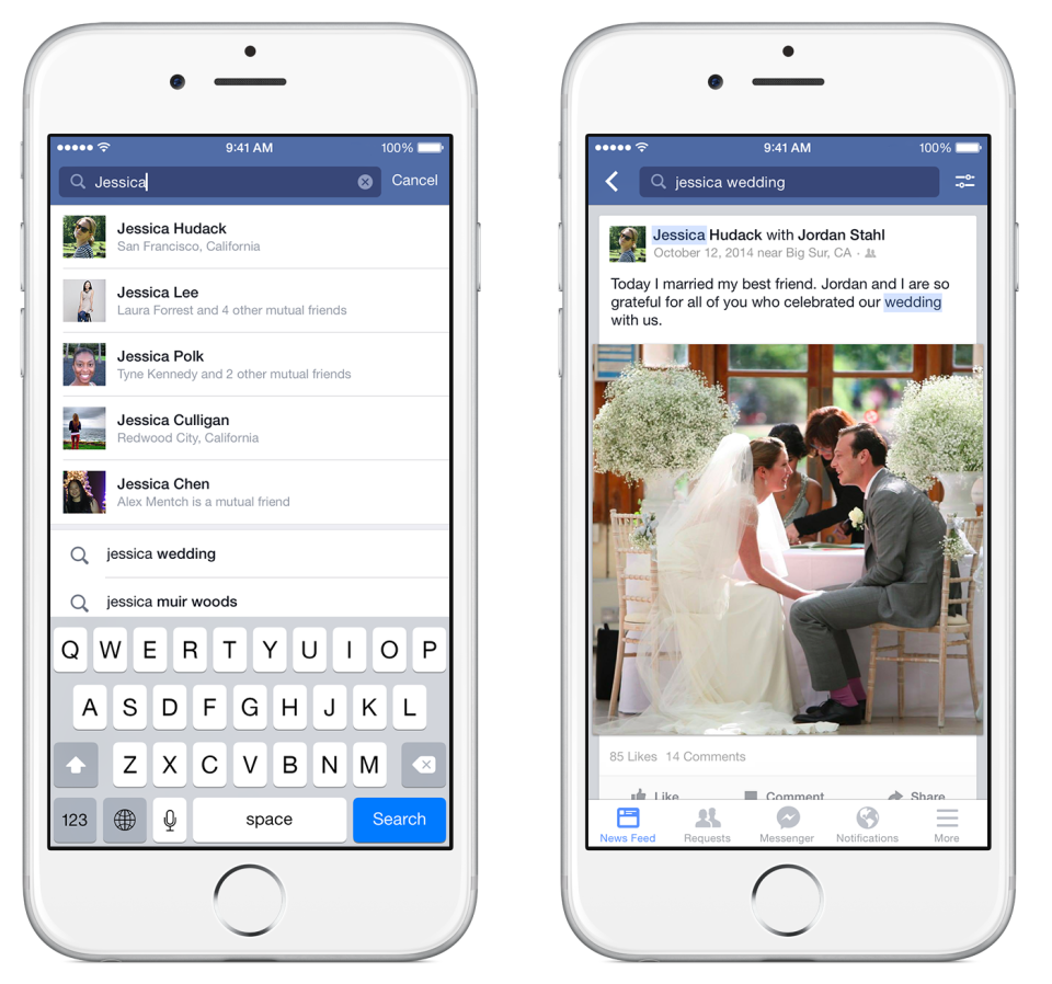 facebook launches graph search on iphone