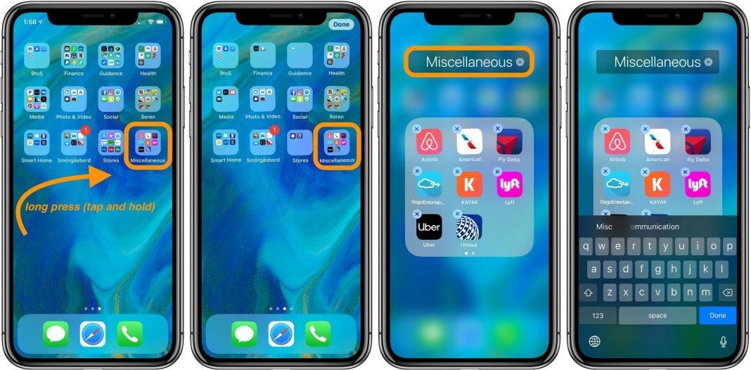 how to rename folders on iphone and ipad 9to5mac