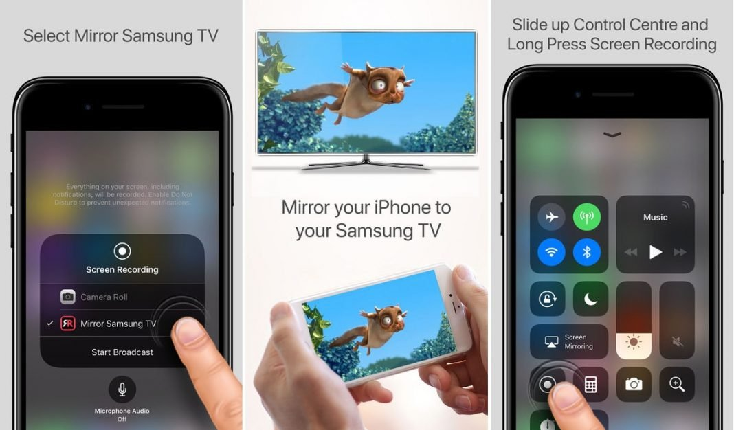 you can now mirror your iphone directly to a samsung tv