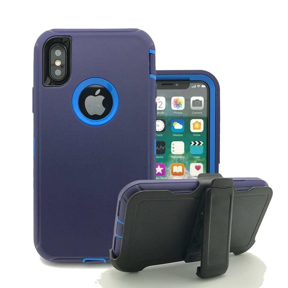 For Apple iPhone XS/XR/XS MAX,Defender Shockproof Case w ...