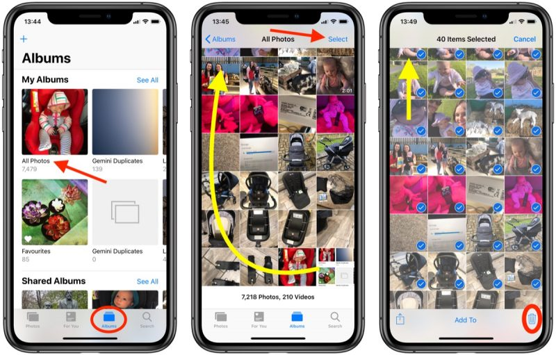 how to delete all photos from your iphone macrumors